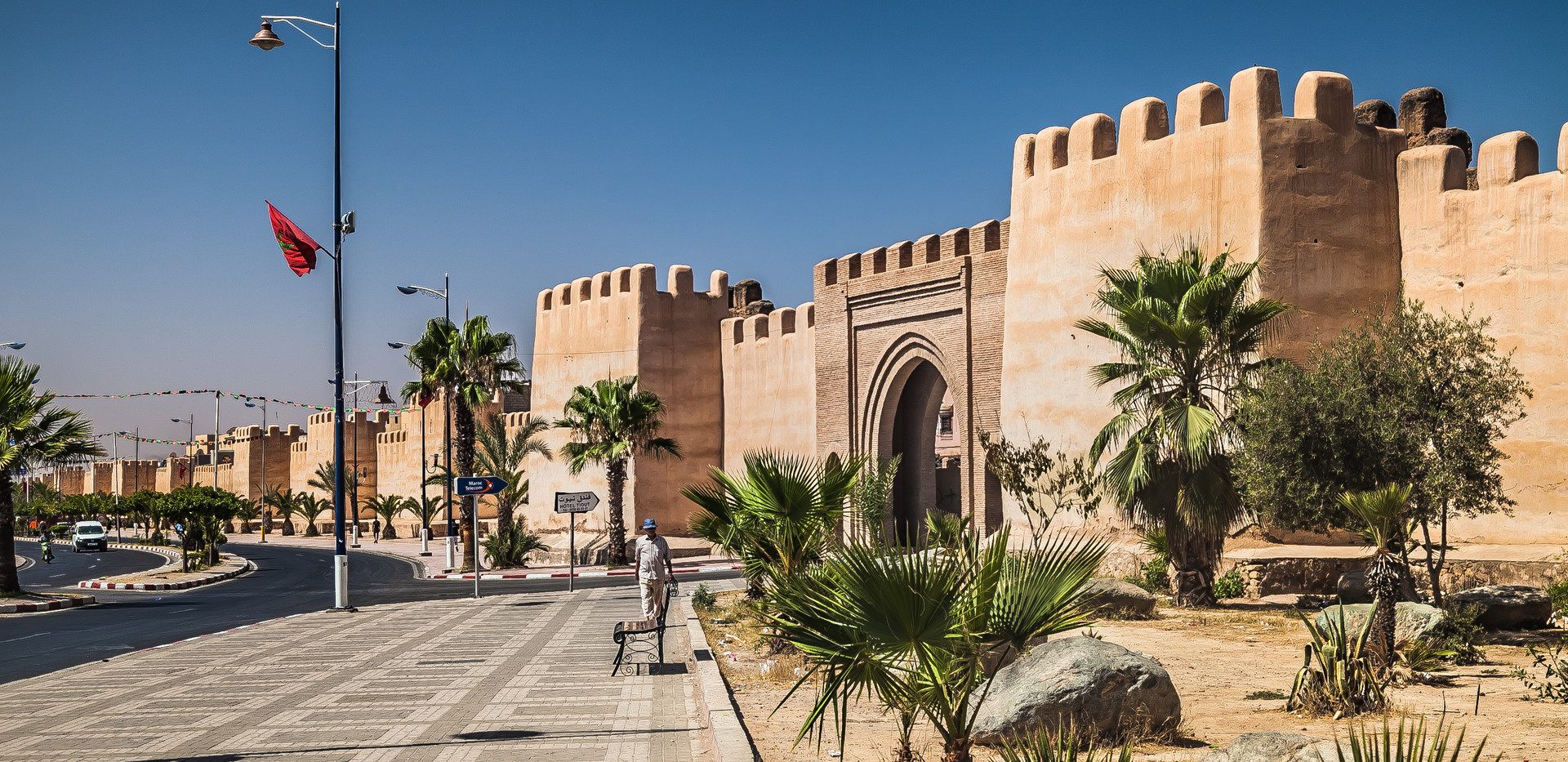 ancient city walls of taroudant, morocco