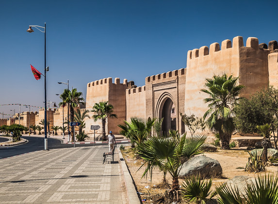 ancient city walls of taroudant, morocco
