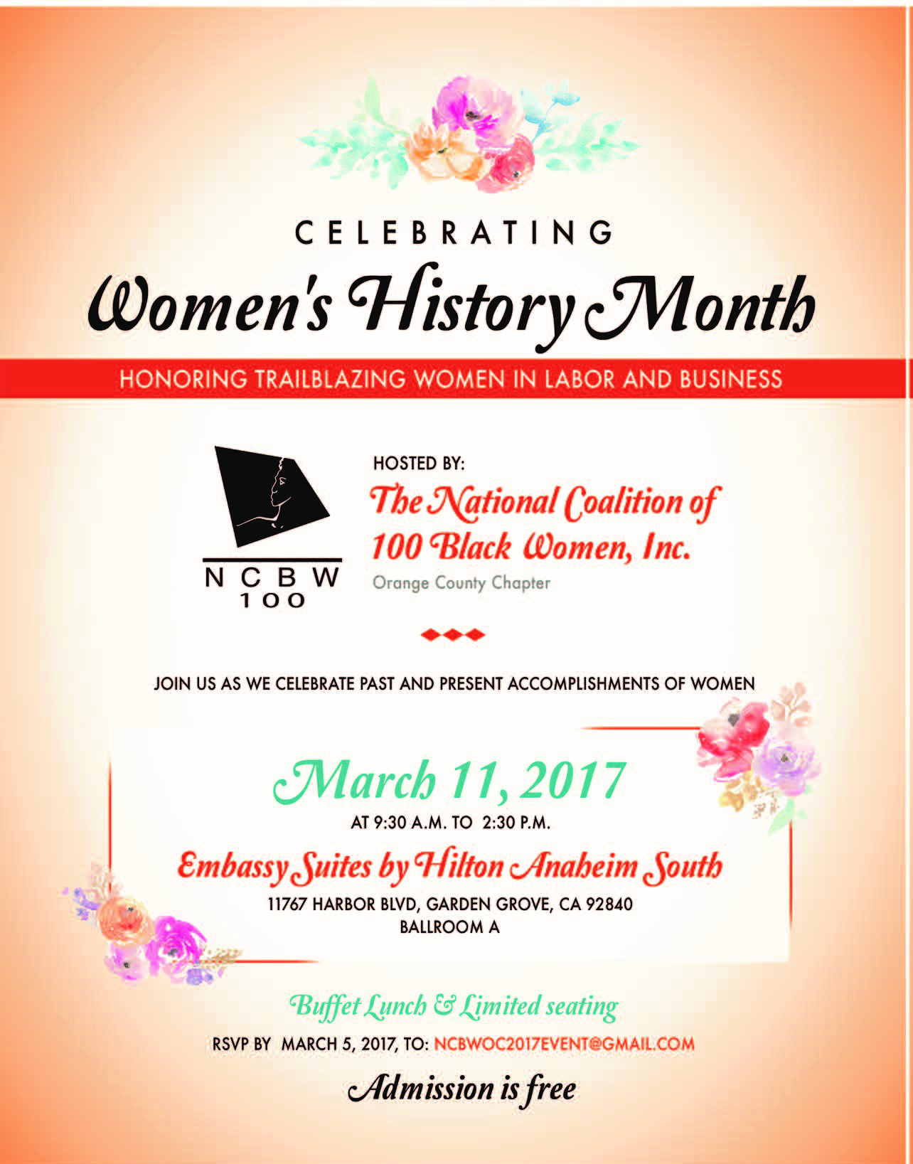NCBW WOMEN'S HISTORY MONTH