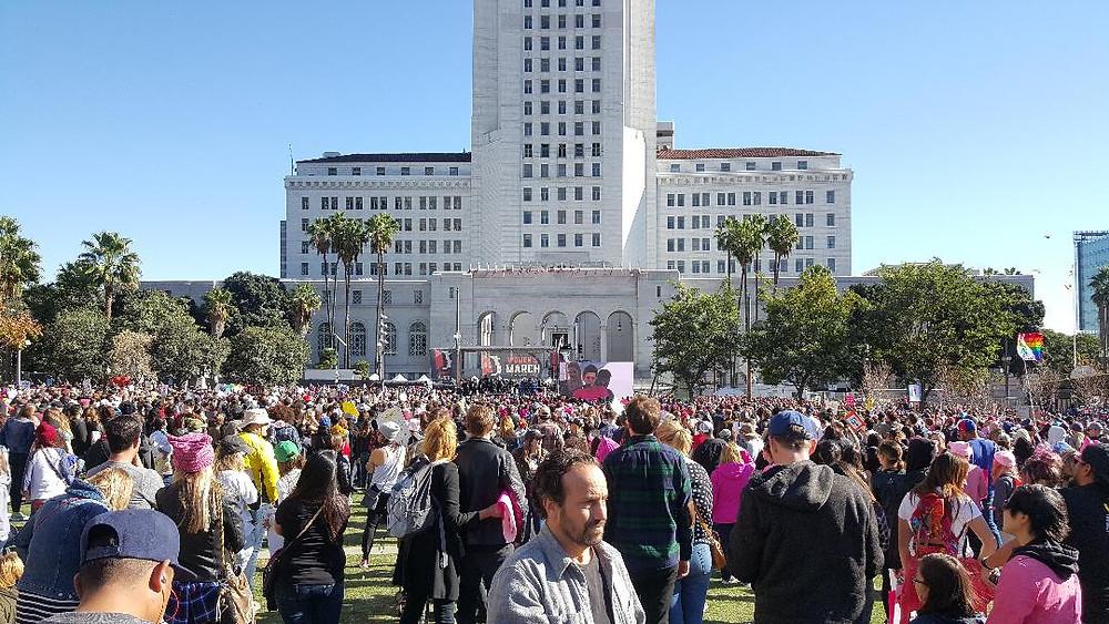 Big crowd of nice people