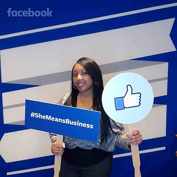 Micaela Hayes- Walker at a Facebook conference