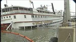 Remember when that dude tried to sink the Belle of Louisville?