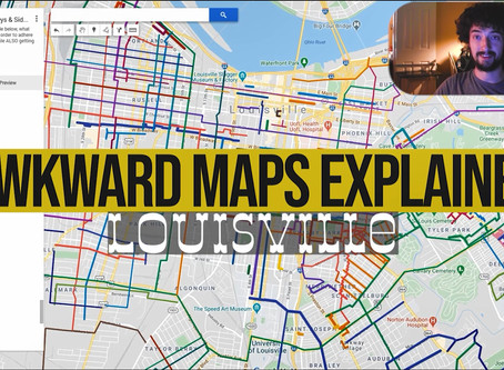 Awkward Maps: Louisville - East End Roads vs West End Roads