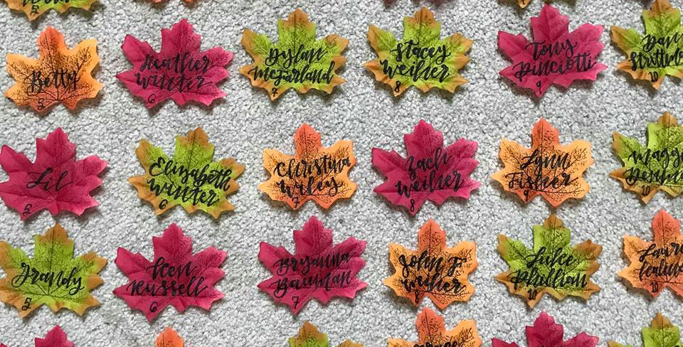 Fall Leaves Escort Cards