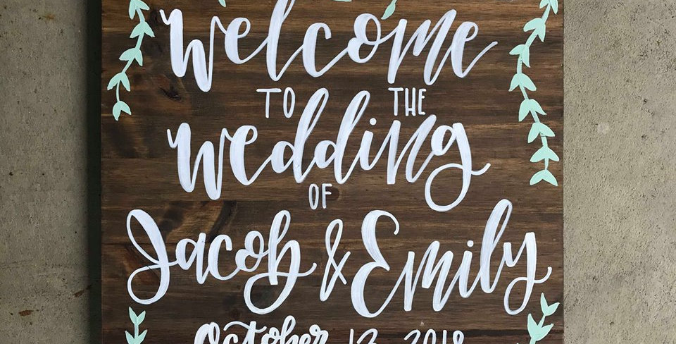 Wood Welcome Sign - Floral Designs