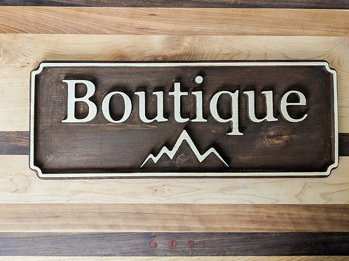 Wooden sign customized