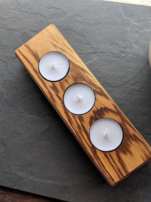 Zebrano Wooden candle holder