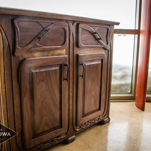 Solid wooden buffet Country farmhouse