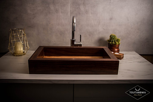 Large contemporary wooden sink