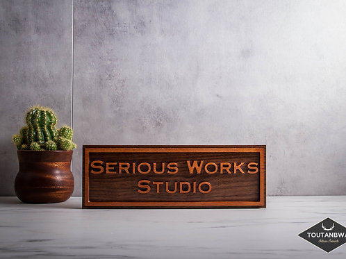 High end wooden sign customized