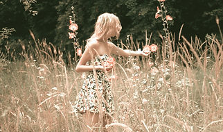 girl-collects-flowers-1725176_1920_edite