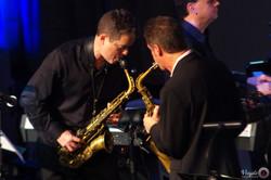 IMGP7000 - Eric Marienthal & River City Big Band - sax duel