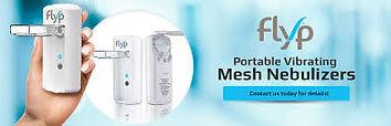 flyp mesh nebulizer in a hand