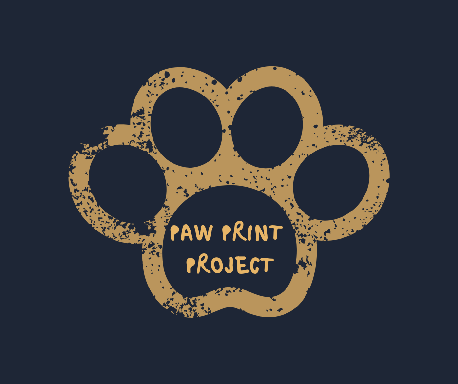 Paw print, raising money for animal shelters in portugal