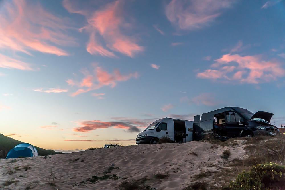 Van life, Camping spot Portugal