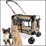 PetLuv Happy Pet Premium 3-in-1 Soft Sided Detachable Pet Carrier, Travel Crate, and Pet Stroller