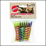 Ethical Pet Wide Durable Heavy Gauge Plastic Colorful Springs Cat Toy