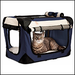 PetLuv Happy Cat Premium Soft Sided Cat Carrier & Travel Crate