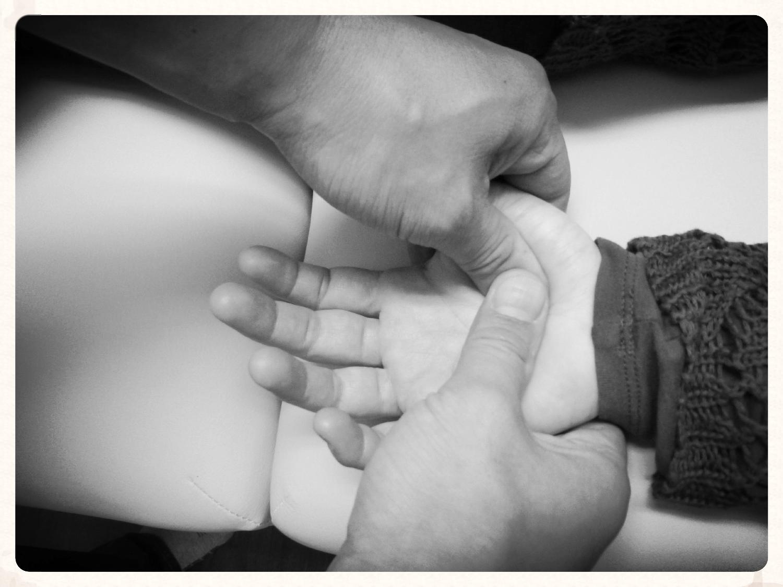Shiatsu massage hand