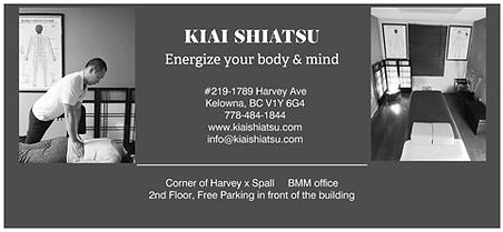 GC of KIAI SHIATSU massage Kelowna