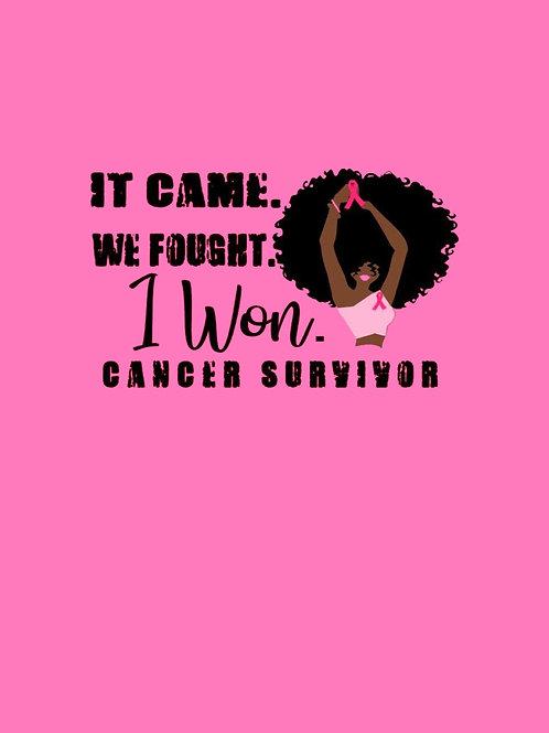 It Came. We Fought. I Won. Cancer Survivor