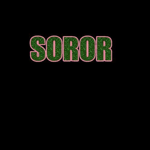 Soror Block Print- Glitter