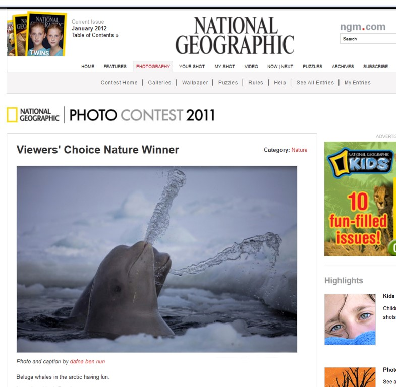 National Geographic contest winner