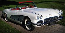 White Vintage Corvette