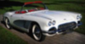 Corvette Blanc Vintage