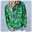 Thumbnail: Ladies Green Camo Hoodie Top