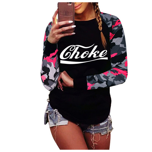 Ladies Long Sleeve Camo Top