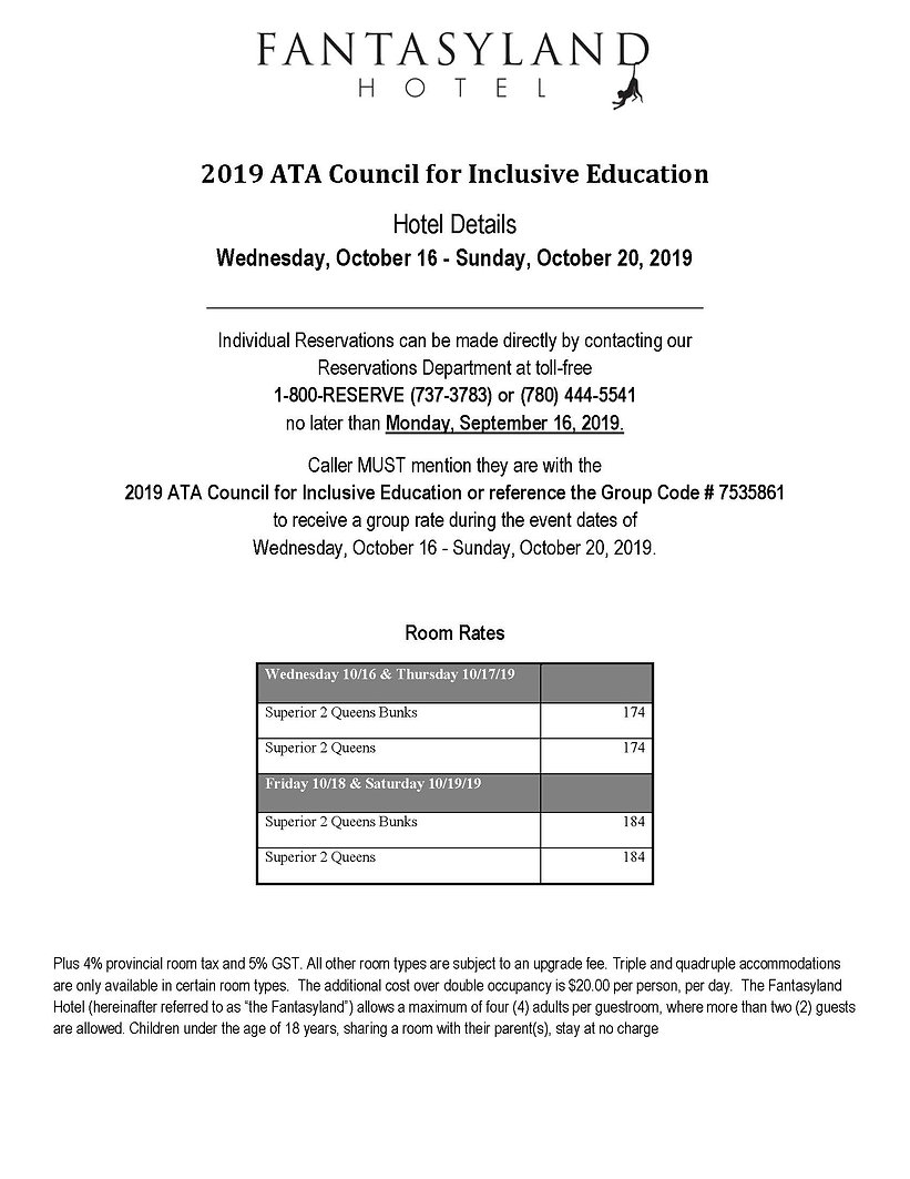 2019 ATA Council for Inclusive Education