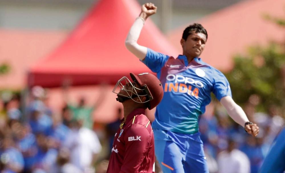 Navdeeo Saini registered his best T20 bowling figure on his international debut. India vs West Indies t20