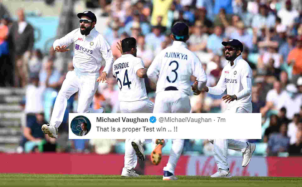 England vs India, 4th Test: Team India beat England by 157 runs and take 2-1 lead in the 5-match series. Rohit Sharma receives Man of The Match for his century 127. India vs England Oval Test.