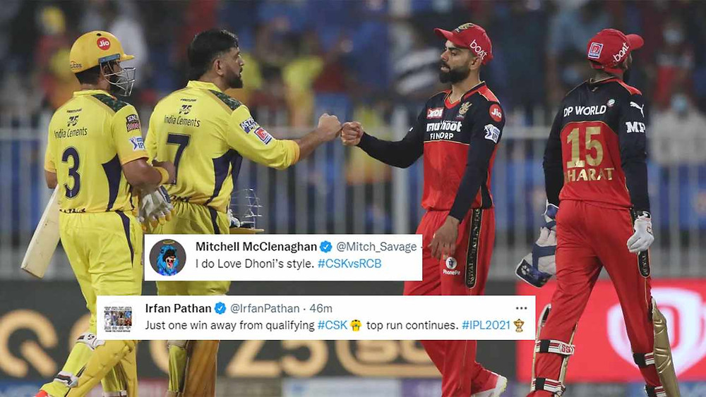 IPL 2021, CSK vs RCB: CSK beat RCB by six wickets in 35th match of IPL 2021, CSKvsRCB Twitter Reactions