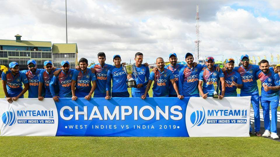Indian Cricket Team won all the three t20 games against West Indies. Krunal Pandya Player of the series