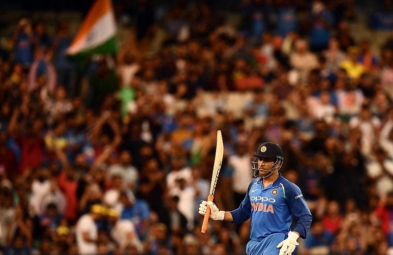 Mahendra Singh Dhoni. Walking Wicket