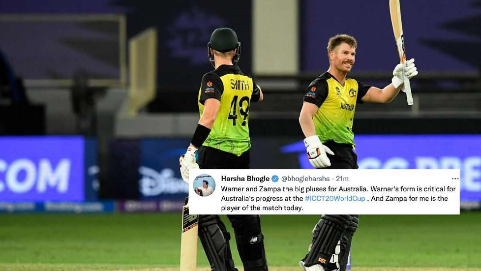 ICC T20 WC 2021 - Super 12 - Australia brush aside Sri Lanka by 7 wickets; Warner, Zampa shine