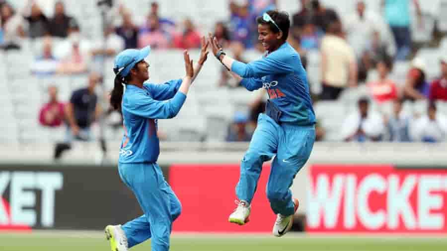 Deepti Sharma three maiden in four overs and 3 wickets. First Indian to do so. South Africa vs India Women T20I