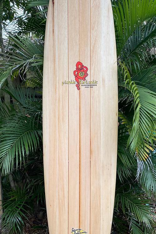 Classic Plastic Fantastic Balsa Wood Surfboard