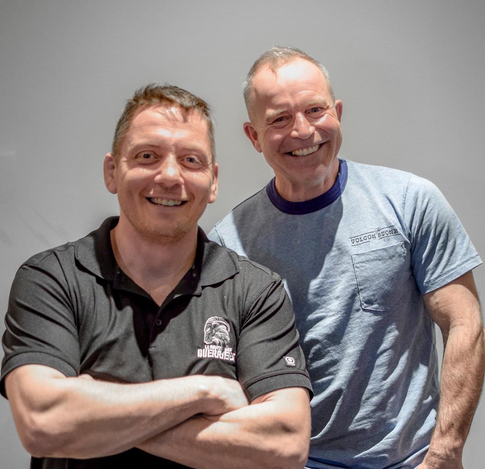 Coach Jonathan Goulet et Steve Carrier