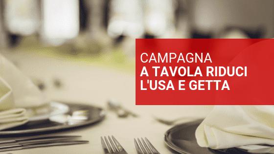 campagna per l'uso della biancheria ristoranti non usa e getta