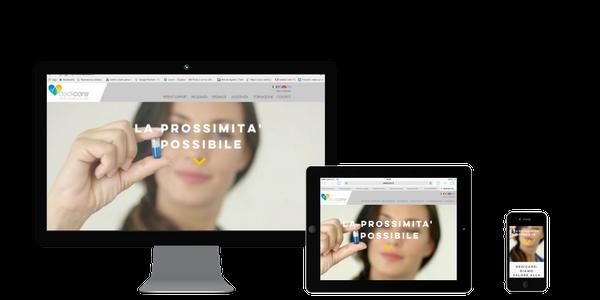 Schermate vari dispositivi sito web dedicare