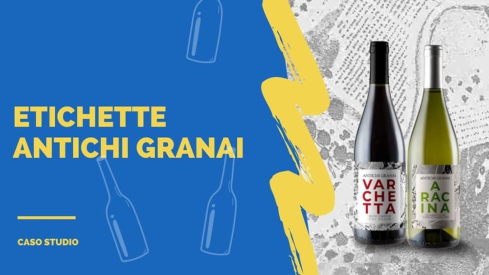 etichette dei vini antichi granai realizzate su carta Fedrigoni