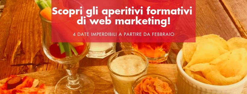 invito aperitivi di web marketing