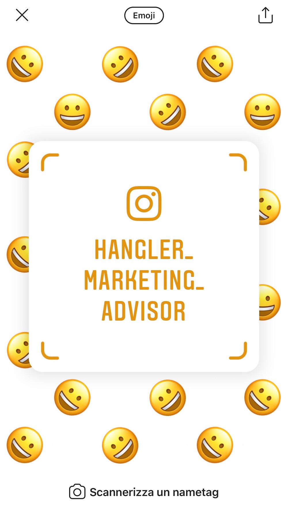 Nametag Instagram Emoji