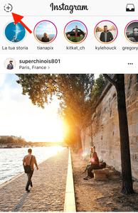 Instagram stories guida passo 1