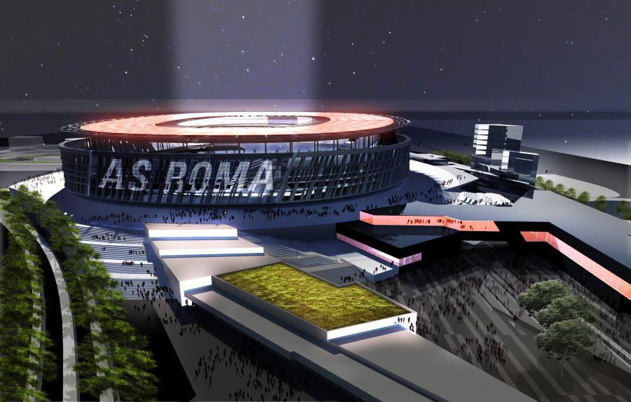studio per lo stadio della roma