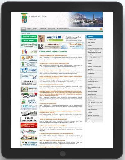 esempio sito web con poca usabilità