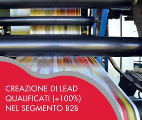 Creazione di lead qualificati (+100%) nel segmento B2B